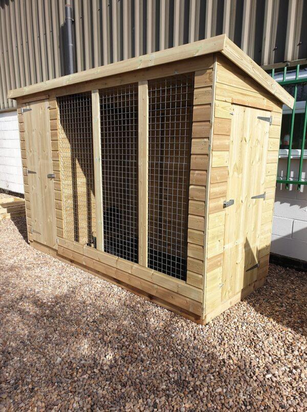 dog kennel run image 2 600x806 - Pent Dog Run